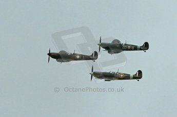 © Octane Photographic 2011 – Goodwood Revival 17th September 2011. Spitfire flyby Digital Ref : 0179CB1D4396