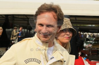 © Octane Photographic 2011 – Goodwood Revival 17th September 2011. Christian Horner of Red Bull Racing. Digital Ref : 0179CB1D4632