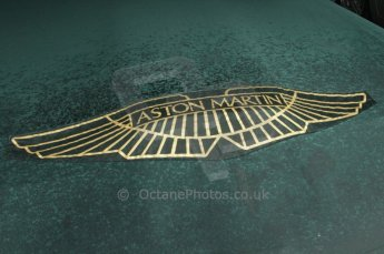 © Octane Photographic 2011 – Goodwood Revival 17th September 2011. Aston Martin badge. Digital Ref : 0179LW7D7326