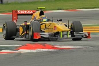 © Octane Photographic 2011. GP2 Official pre-season testing, Barcelona, Tuesday 19th April 2011. DAMS - Pal Varhaug. Digital Ref : 0052CB1D0092