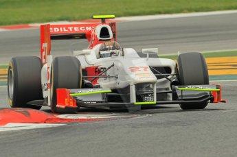 © Octane Photographic 2011. GP2 Official pre-season testing, Barcelona, Tuesday 19th April 2011. Team Air Asia - Davide Valsecchi. Digital Ref : 0052CB1D0270