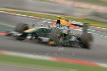 © Octane Photographic 2011. GP2 Official pre-season testing, Barcelona, Tuesday 19th April 2011. Lotus Art - Esteban Gutierrez. Digital Ref : 0052CB7D0191