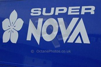 © Octane Photographic 2011. GP2 Official pre-season testing, Silverstone, Tuesday 5th April 2011. Super Nova logo on transporter. Digital Ref : 0039CB1D6127