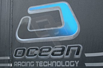 © Octane Photographic 2011. GP2 Official pre-season testing, Silverstone, Tuesday 5th April 2011. Ocean Racing Technology logo on transporter. Digital Ref : 0039CB1D6135