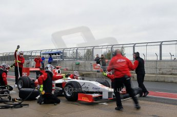 © Octane Photographic 2011. GP2 Official pre-season testing, Silverstone, Tuesday 5th April 2011. Team Air Asia - Luiz Razia practice pitstop. Digital Ref : 0039CB1D7599