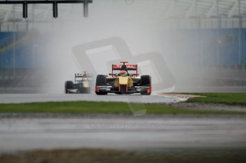 © Octane Photographic 2011. GP2 Official pre-season testing, Silverstone, Tuesday 5th April 2011. DAMS - Romain Grosjean, Lotus Art - Jules Bainchi. Digital Ref : 0039CB7D0139