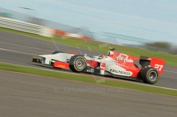 © Octane Photographic 2011. GP2 Official pre-season testing, Silverstone, Wednesday 6th April 2011. Team Air Asia - Davide Valsecchi. Digital Ref : 0040CB1D7986