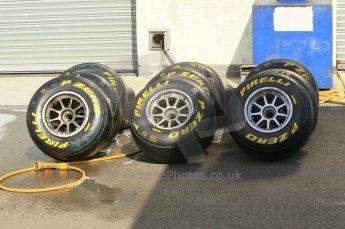 © Octane Photographic 2011. GP2 Official pre-season testing, Silverstone, Wednesday 6th April 2011. Pirelli GP2 Slicks. Digital Ref : 0040CB1D8037
