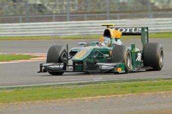 © Octane Photographic 2011. GP2 Official pre-season testing, Silverstone, Wednesday 6th April 2011. Lotus Art - Esteban Gutierez. Digital Ref : 0040CB7D1535