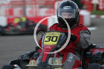 © Octane Photographic Ltd. 2011. Milton Keynes Daytona Karting, Forget-Me-Not Hospice charity racing. Sunday October 30th 2011. Digital Ref : 0194lw7d1327