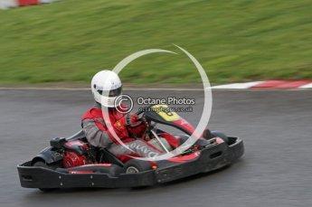 © Octane Photographic Ltd. 2011. Milton Keynes Daytona Karting, Forget-Me-Not Hospice charity racing. Jimmy Weeks of BadgerGP.com . Sunday October 30th 2011. Digital Ref : 0194lw7d8513