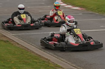 © Octane Photographic Ltd. 2011. Milton Keynes Daytona Karting, Forget-Me-Not Hospice charity racing. Sunday October 30th 2011. Digital Ref : 0194lw7d9305