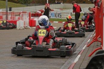 © Octane Photographic Ltd. 2011. Milton Keynes Daytona Karting, Forget-Me-Not Hospice charity racing. Sunday October 30th 2011. Digital Ref : 0194lw7d9384