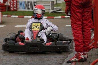 © Octane Photographic Ltd. 2011. Milton Keynes Daytona Karting, Forget-Me-Not Hospice charity racing. Sunday October 30th 2011. Digital Ref : 0194lw7d9552