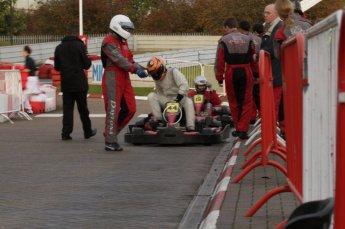 © Octane Photographic Ltd. 2011. Milton Keynes Daytona Karting, Forget-Me-Not Hospice charity racing. Sunday October 30th 2011. Digital Ref : 0194lw7d9946
