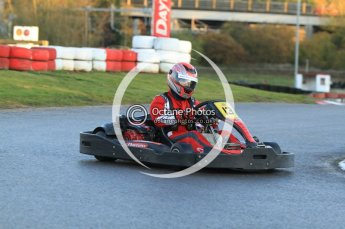 © Octane Photographic Ltd. 2011. Milton Keynes Daytona Karting, Forget-Me-Not Hospice charity racing. Sunday October 30th 2011. Digital Ref : 0194cb7d9538