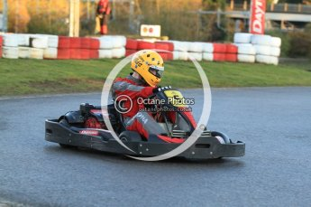 © Octane Photographic Ltd. 2011. Milton Keynes Daytona Karting, Forget-Me-Not Hospice charity racing. Sunday October 30th 2011. Digital Ref : 0194cb7d9547