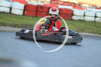© Octane Photographic Ltd. 2011. Milton Keynes Daytona Karting, Forget-Me-Not Hospice charity racing. Sunday October 30th 2011. Digital Ref : 0194cb7d9732