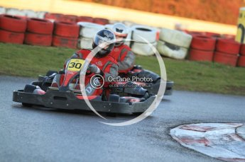 © Octane Photographic Ltd. 2011. Milton Keynes Daytona Karting, Forget-Me-Not Hospice charity racing. Sunday October 30th 2011. Digital Ref : 0194cb7d9737