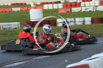 © Octane Photographic Ltd. 2011. Milton Keynes Daytona Karting, Forget-Me-Not Hospice charity racing. Sunday October 30th 2011. Digital Ref : 0194cb7d9925