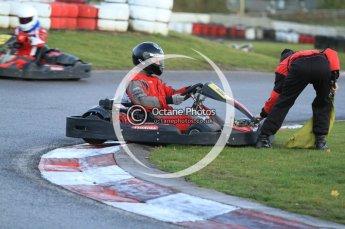 © Octane Photographic Ltd. 2011. Milton Keynes Daytona Karting, Forget-Me-Not Hospice charity racing. Sunday October 30th 2011. Digital Ref : 0194cb7d9977