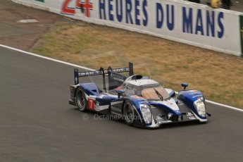 © Octane Photographic 2011. Le Mans finish line and podium - Sunday 11th June 2011. La Sarthe, France. Digital Ref : 0263lw7d7460