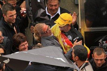 © Octane Photographic 2011. Le Mans finish line and podium - Sunday 11th June 2011. La Sarthe, France. Digital Ref : 0263lw7d7842