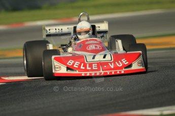 © Octane Photographic Ltd. 2011 Masters Racing Espiritu de Montjuic, April 8th 2011. Grand Prix masters, Historic Formula 1 racing. Digital Ref : 0042CB1D0204