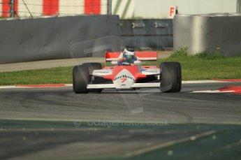 © Octane Photographic Ltd. 2011 Masters Racing Espiritu de Montjuic, April 8th 2011. McLaren MP4/1. Grand Prix masters, Historic Formula 1 racing. Digital Ref : 0042CB1D0243