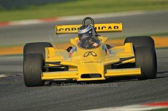 © Octane Photographic Ltd. 2011 Masters Racing Espiritu de Montjuic, April 8th 2011. Grand Prix masters, Historic Formula 1 racing. Digital Ref : 0042CB1D0255