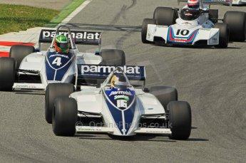 © Octane Photographic Ltd. 2011 Masters Racing Espiritu de Montjuic, April 10th 2011. Grand Prix masters, Historic Formula 1 racing. Digital Ref : 0042CB1D1229