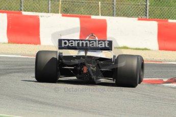© Octane Photographic Ltd. 2011 Masters Racing Espiritu de Montjuic, April 10th 2011. Grand Prix masters, Historic Formula 1 racing. Digital Ref : 0042CB1D1250