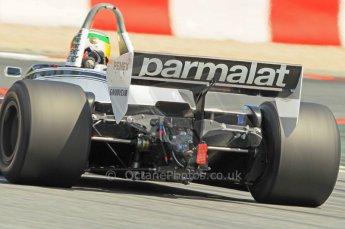 © Octane Photographic Ltd. 2011 Masters Racing Espiritu de Montjuic, April 10th 2011. Grand Prix masters, Historic Formula 1 racing. Digital Ref : 0042CB1D1254