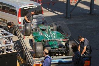 © Octane Photographic Ltd. 2011 Masters Racing Espiritu de Montjuic, April 8th 2011. Grand Prix masters, Historic Formula 1 racing. Digital Ref : 0042CB1D0399