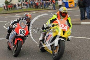 © Octane Photographic 2011. NW200, 17th May 2011 Supersport practice. Jeremy Toye, Kawasaki - Sondel Racing Kawasaki UK; Cameron Donald, Honda - Wilson Craig Racing. Digital ref : LW7D0294