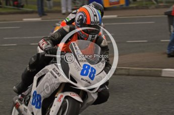 © Octane Photographic 2011. NW200, 17th May 2011 Supersport practice. Adam Child, Suzuki - Ken Urwin M/cycles / MCN. Digital ref : LW7D1351