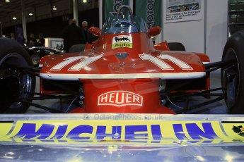 World © Octane Photographic Ltd. Race Retro 25th February 2011. Historic F1 cars. Jody Scheckter Ferrari 314T4. Digital Ref : 0644cb40d5741