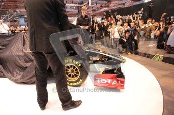 Autosport International 2011. Renault 2011 livery launch. Digital ref : 0046CB1D5924