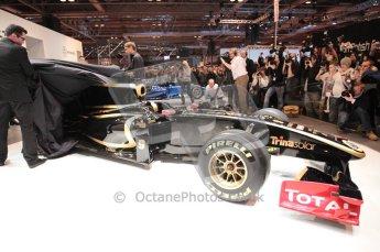 Autosport International 2011. Renault 2011 livery launch. Digital ref : 0046CB1D5950
