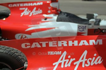 © Octane Photographic Ltd. 2011. European Formula1 GP, Saturday 25th June 2011. GP2 Race 1. Caterham Team AirAsia's new logos. Digital Ref:  0085CB1D7734