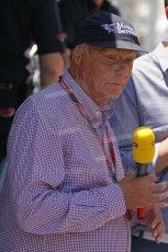 © Octane Photographic Ltd. 2011. European Formula1 GP, Saturday 25th June 2011. GP2 Race 1. Niki Lauda - RTL reporter. Digital Ref:  0085CB1D7811