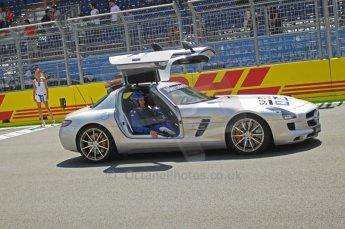 © Octane Photographic Ltd. 2011. European Formula1 GP, Saturday 25th June 2011. GP2 Race 1. Mercedes AMG SLS FIA Safety Car. Digital Ref:  0085CB1D7872