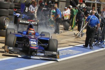 © Octane Photographic Ltd. 2011. European Formula1 GP, Saturday 25th June 2011. GP2 Race 1. Max Chilton exiting the Carlin pit after a tyre change. Digital Ref:  0085CB1D8026