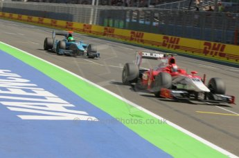 © Octane Photographic Ltd. 2011. European Formula1 GP, Saturday 25th June 2011. GP2 Race 1. Kevin Ceccon - Scuderia Coloni and Kevin Mirocha - Ocean Racing Technology. Digital Ref:  0085CB1D8130