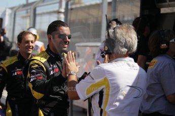 © Octane Photographic Ltd. 2011. European Formula1 GP, Saturday 25th June 2011. GP2 Race 1. The jubilant DAMS team after Romain Grosjean's win. Digital Ref:  0085CB1D8200