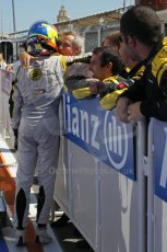 © Octane Photographic Ltd. 2011. European Formula1 GP, Saturday 25th June 2011. GP2 Race 1. Romain Grosjean greeting his DAMS team after his win. Digital Ref:  0085CB1D8292