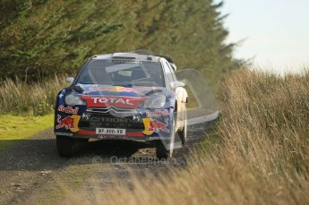 © North One Sport Ltd 2011 / Octane Photographic Ltd 2011. 13th November 2011 Wales Rally GB, WRC SS21 Halfway. Sebastien Ogier and Julien Ingrassia in their Citroen DS3 WRC. Digital Ref : 0200CB1D9761