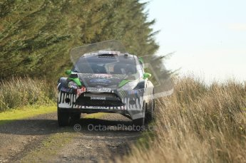 © North One Sport Ltd 2011 / Octane Photographic Ltd 2011. 13th November 2011 Wales Rally GB, WRC SS21 Halfway. Ken Block and Alex Gelsomino in their Ford fiesta RS WRC, Digital Ref : 0200CB1D9774