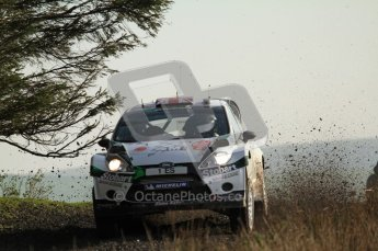 © North One Sport Ltd 2011 / Octane Photographic Ltd 2011. 13th November 2011 Wales Rally GB, WRC SS21 Halfway. Matthew Wilson and Scott Martin in their Ford Fiesta RS WRC. Digital Ref : 0200LW7D8709