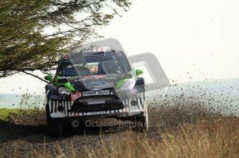 © North One Sport Ltd 2011 / Octane Photographic Ltd 2011. 13th November 2011 Wales Rally GB, WRC SS21 Halfway. Ken Block and Alex Gelsomino in their Ford fiesta RS WRC, Digital Ref : 0200LW7D8789